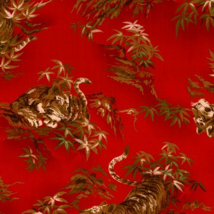 Robert Kaufman Fabrics: EG-3405-5 RED from Oriental Traditions Original Collection