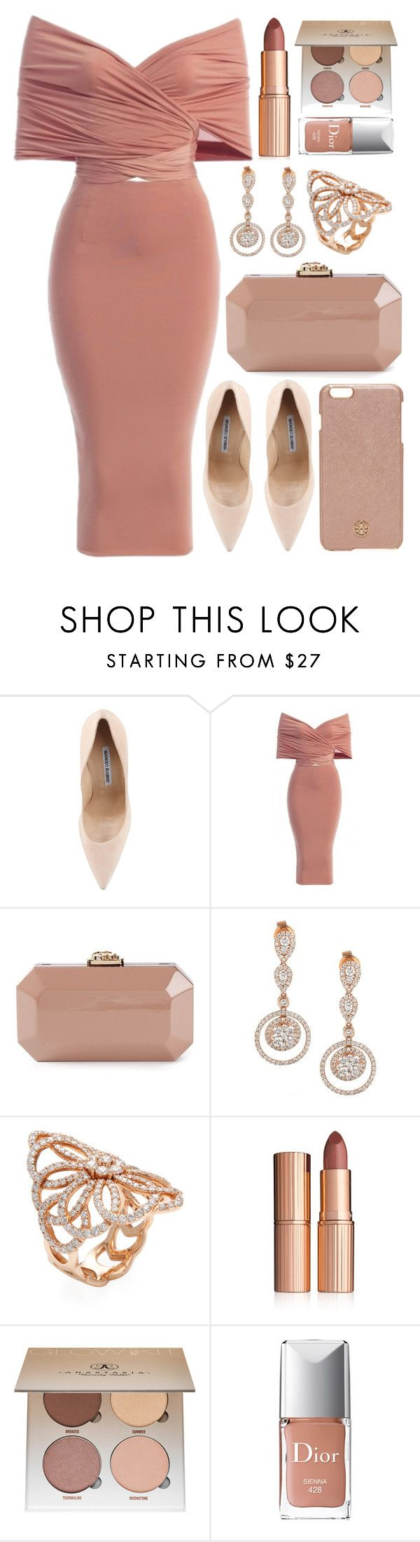 """""""Untitled #4306"""" by natalyasidunova ❤ liked on Polyvore featuring Manolo Blahnik, Serpui, LE VIAN, Nephora, Charlotte Tilbury, Anastasia Beverly Hills, Christian Dior and Tory Burch"""