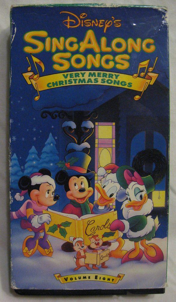 Disney Sing Along Songs Christmas Vhs.Disney Sing Along Songs Vhs Very Merry Christmas 8 Eight