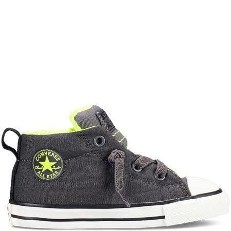 converse chuck taylor all star street toddler sneakers in thunder gray  de339cf4e