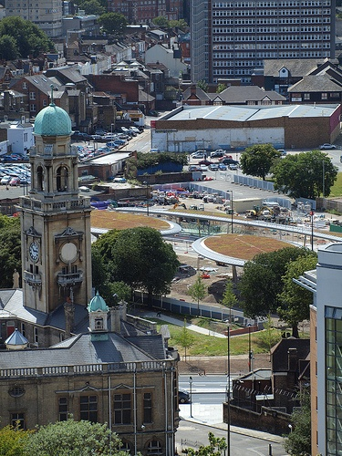 A view of Chatham Town centre from the Belvedere Heights Fort Amherst [shared]