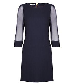 fleur b. Oxford Shift Dress in Navy