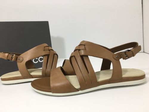 dfda1e4e4ad8 ECCO Touch Braided Sandal Whisky Cow Nubuck Women s Sandals Size 40 US  9-9.5 M