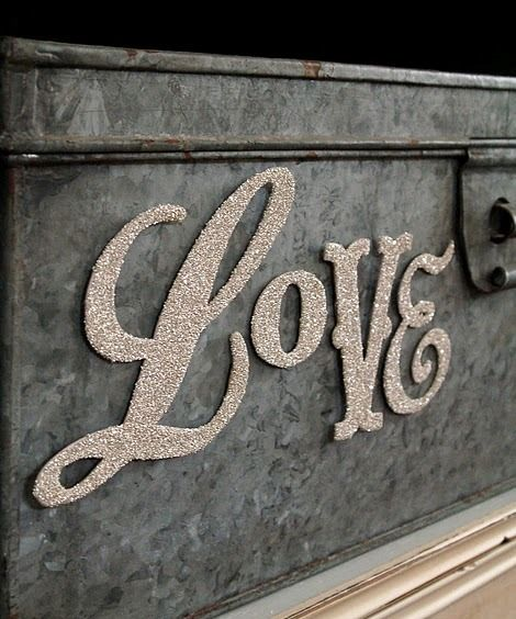 L❤VE.: Idea, Creative Spaces, Valentines Day, Mustard Seeds, Things, Fonts, Glitter Letters, Window Seats, Wedding Signs