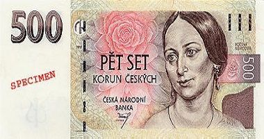 Czech Koruna to US Dollar cash converter
