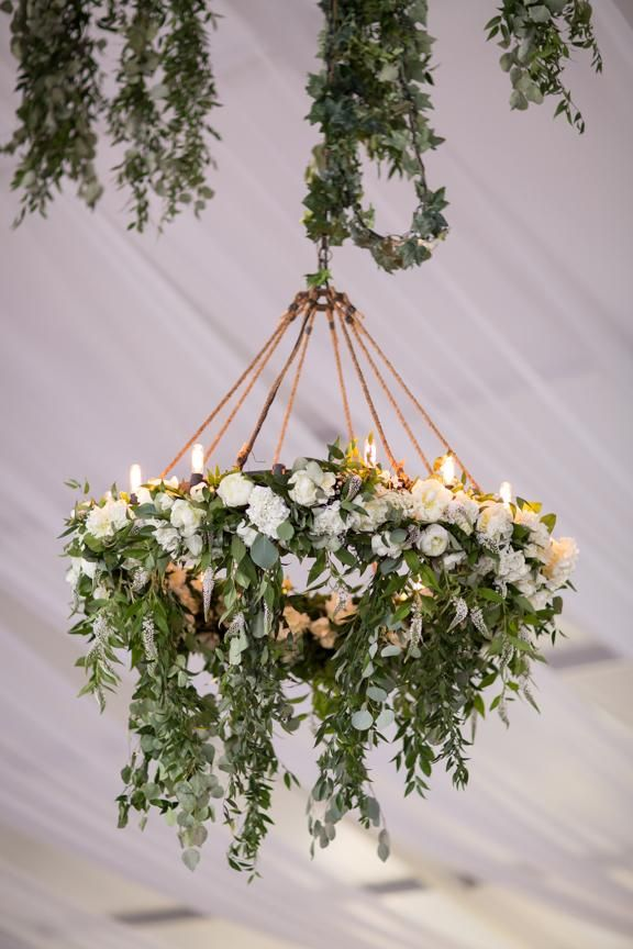 Hanging floral wreath by Vancouver florist The Flower Factory