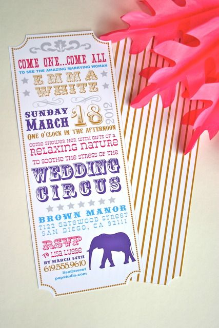 "Cute!!  Photo 5 of 16: Circus Theme / Bridal/Wedding Shower ""Circus Bridal Shower"" 