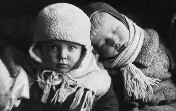 Soviet Finnish War, Finnish Little Children Refugees At Copenhagen In Denmark On March 1940 (Photo by Keystone-France/Gamma-Keystone via Getty Images)
