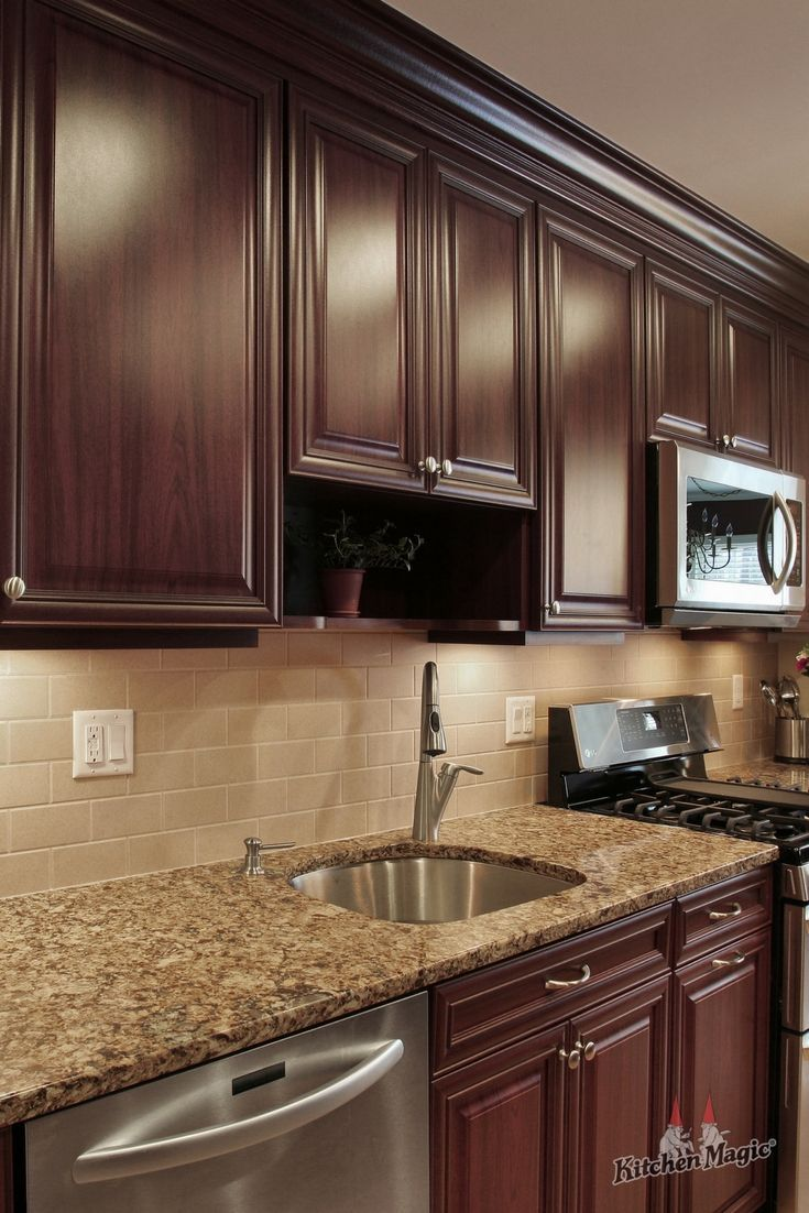 Beauty Of Style And Harmony And Grace And Good Rhythm Depends On Simplicity Plato Kitch Kitchen Backsplash Designs Kitchen Remodel Brown Kitchen Cabinets