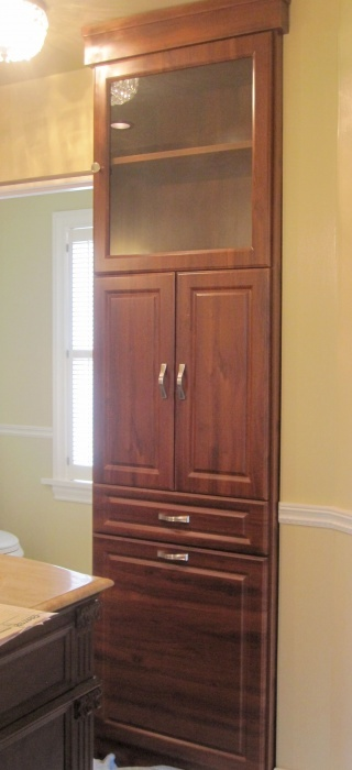 Mahogany Bathroom Storage By California Closets Seattle