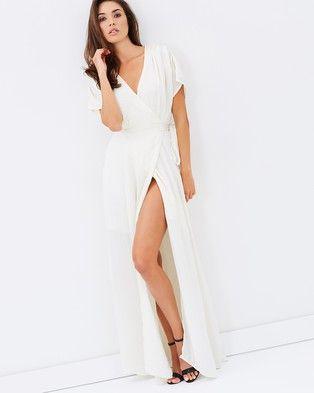 Definitely Favorite ! Atmos & Here – Adelia Silky Maxi Dress Champagne  #style #fashion