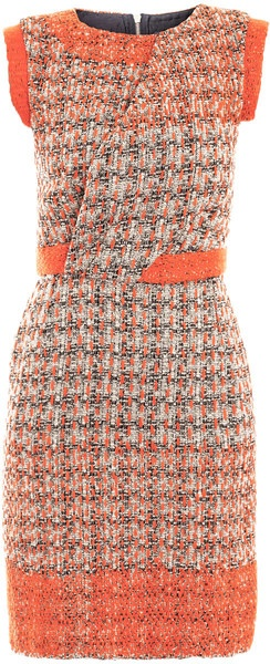 SALONI Jackie Tweed Dress.  I don't like this per se, but the lace trim is a nice idea