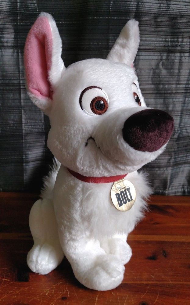 "Disney Store Bolt Plush Soft Toy Dog 14/"" brand new with tag"