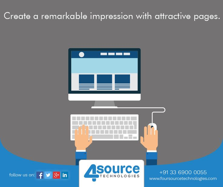 Four Source Technologies aims at creating a visual language for your brand. Get consistency with quality web designing services.