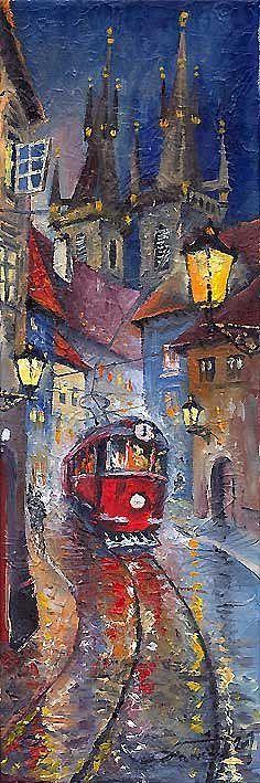 Prague Old Tram 02 by Yuriy Shevchuk.