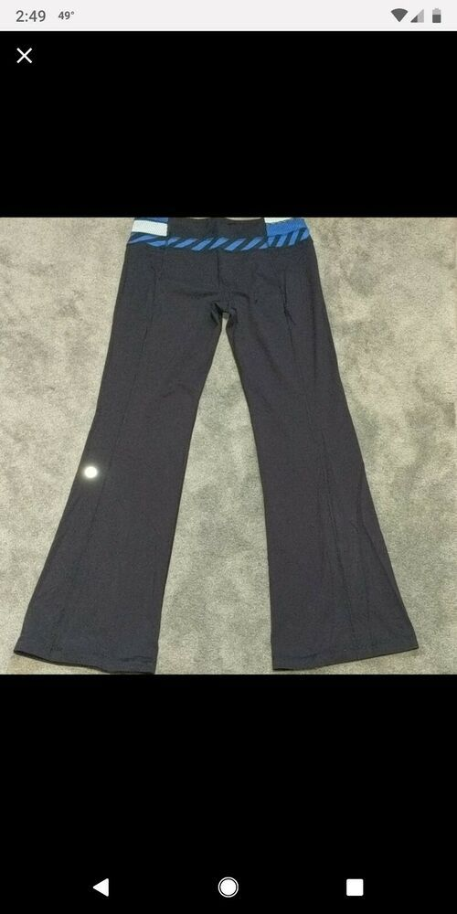 1e410db426 (eBay Ad) Lululemon 10 Tall Groove Pants Black Blue Reversible Flare Leg Boot  Cut