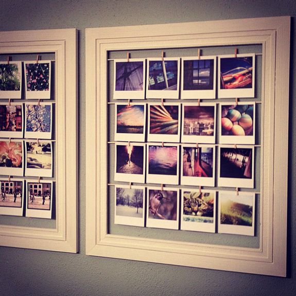 what a cute idea to display instagram pics!