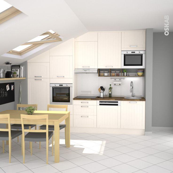 41 best images about cuisine quip e traditionnelle oskab on pinterest coin - Fixer plan de travail sans meuble ...