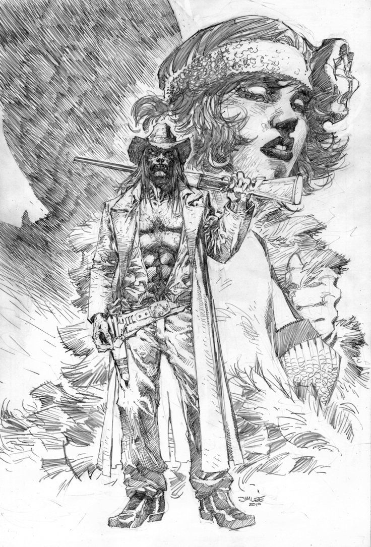 American Vampire Pencils Jim Lee Sketch Book