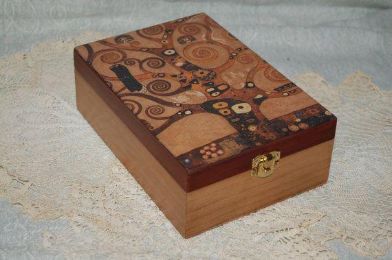 Tea box  Gustav Klimt  Tree of life