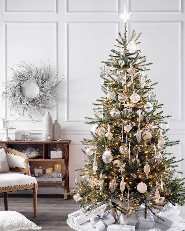 Sanibel Spruce Tree In 2020 Best Artificial Christmas Trees Realistic Christmas Trees White Christmas Ornaments
