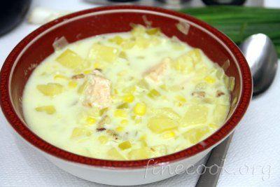 Суп чаудер из лосося. Рецепт вот тут http://finecook.org/250-chauder-iz-lososya.html  #суп #soup #рецепт #вкусно #finecook #приготовить #обед #идеяобеда
