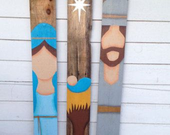 Pallet Wood Christmas Nativity Set PATTERN door WoodenChickenArts
