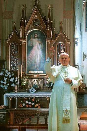 John Paul II and Hyla painting of the Divine Mercy (Jesus' Divine Mercy and His Divine Messages are for all denominations)