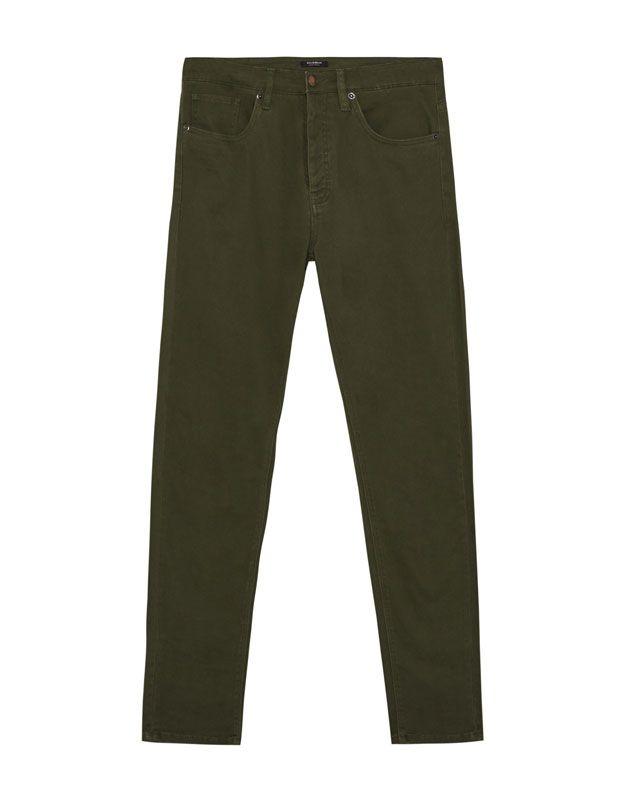 Pantalón slim fit - Pantalones - Ropa - Hombre - PULL&BEAR España
