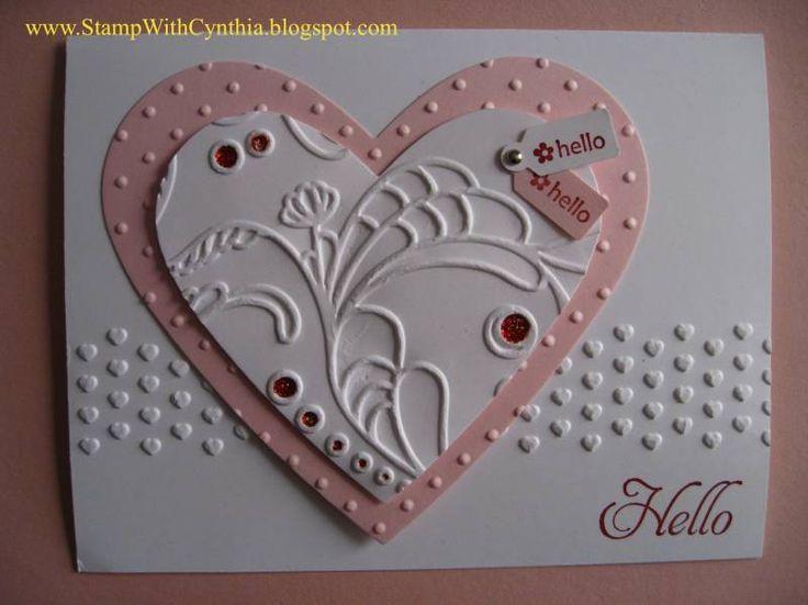 Heart Hello Valentine Caqrds Pinterest Cards Craft