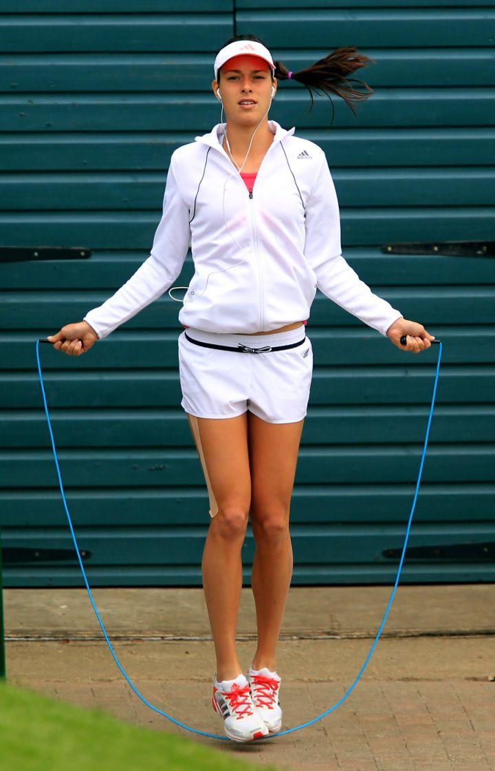Ana Ivanovic <3 during 4th round at the 2012 Wimbledon, 2 July...