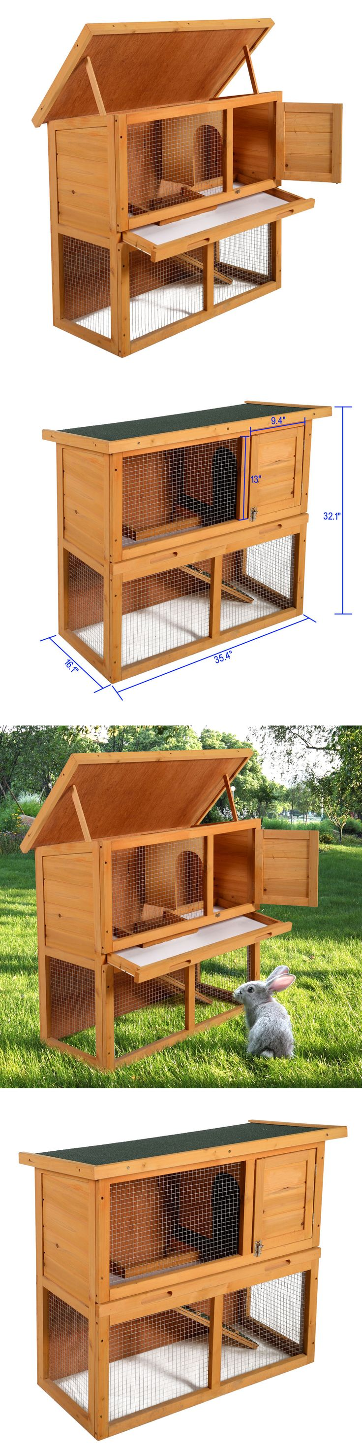Backyard Poultry Supplies 177801: Wooden Chicken Coop Hen House 36 Rabbit Wood Hutch Poultry Cage Habitat -> BUY IT NOW ONLY: $71.99 on eBay!