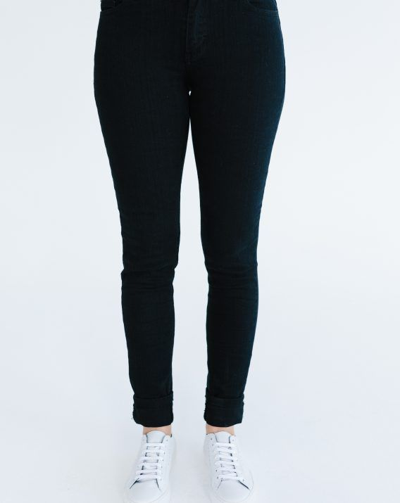 Plain Cuff Denim Jeans - Blossom & Glow
