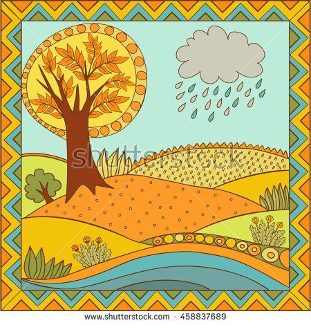 Russian folk background. Illustration is suitable for creating your own patterns, backgrounds, cards, invitations, decorating websites and for the realization of other design ideas.