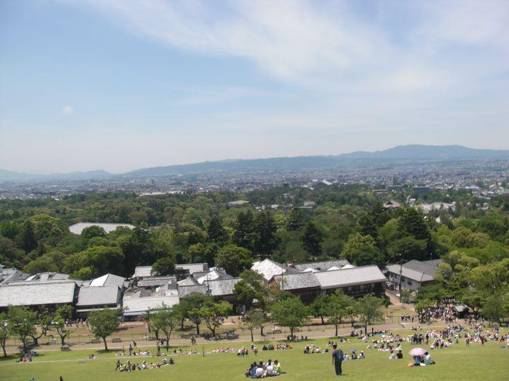若草山から見た奈良の風景
