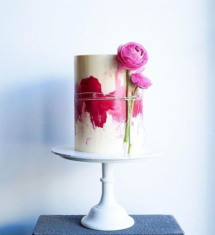 Contemporary Wedding Cakes By Don T Tell Charles Watercolor