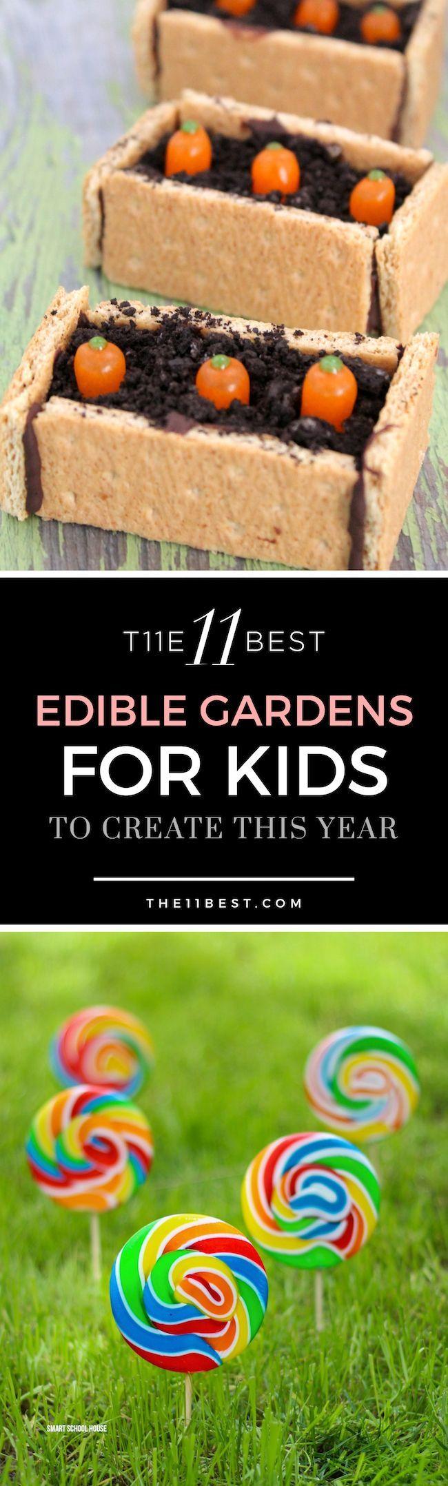 Garden ideas for kids. Candy garden. Edible garden. Garden crafts for kids.