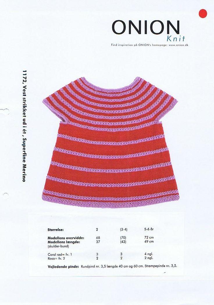 Onion Knit Superfine merino, strikkeopskrift børn: Top strikket ud i ét. - STOF og STUFF - kreativ livsstil | Stof, metervarer og tekstiler....