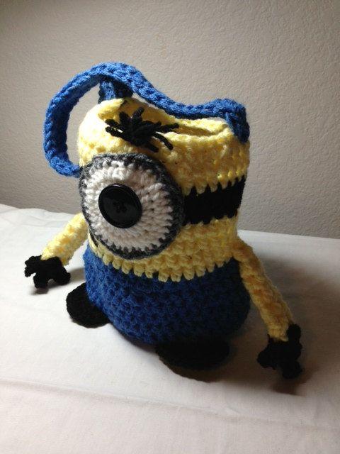 Crochet minion tote minion bag minion purse Minion bag ...