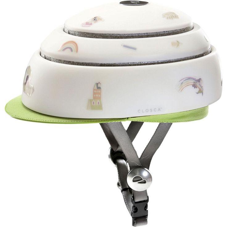 Closca Collapsible Kids Helmet w/ Visor   Green