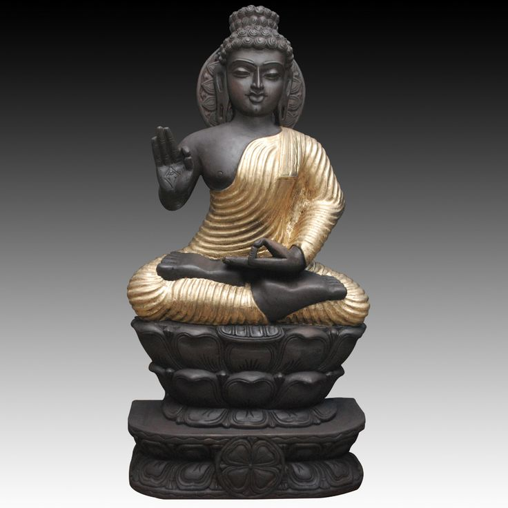 Serenity reigns in this original #Woodensculpture from #Tagoresculpture in India. #Buddha sits in a meditative pose upon a lotus flower, offering a prayer for peace on earth. The artisan carves the sculpture entirely by hand	 Order Now!!! http://www.tagoresculpture.com/product.php?cat=2&pro=29
