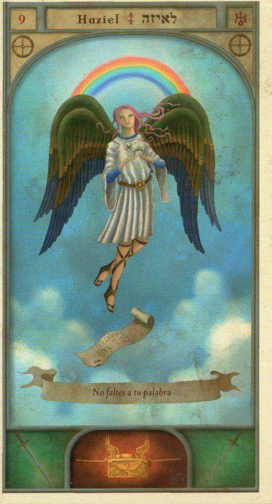 (9) HAZIEL (Kabbalistic angel) protects those born 1 - 5 May, brings out good faith and religiousness. (ángel Cabalístico) proteje aquellos nacidos 1 - 5 mayo, hace aflorar la buena fe y la religiosidad.