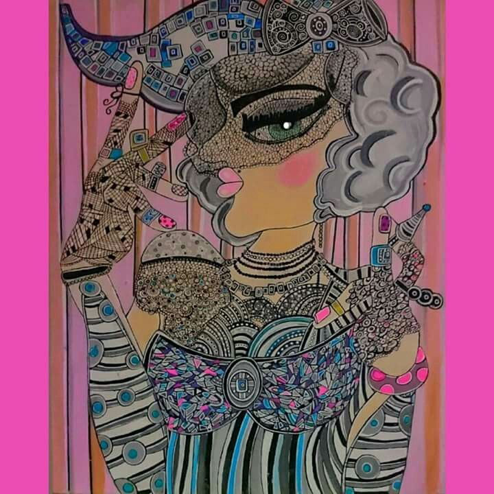 #art #painting #woman #colours