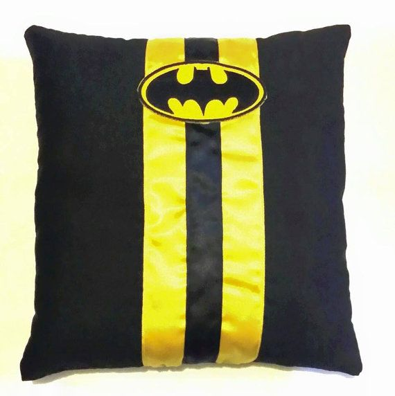 Hey, I found this really awesome Etsy listing at https://www.etsy.com/listing/228431552/batman-wedding-ring-pillow