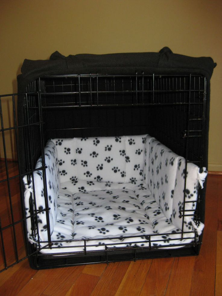 Custom 22 Quot Fleece Dog Crate Cover And Pad Crate Cover
