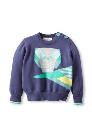 60% OFF Bonnie Baby Baby Owl Sweater (Navy)