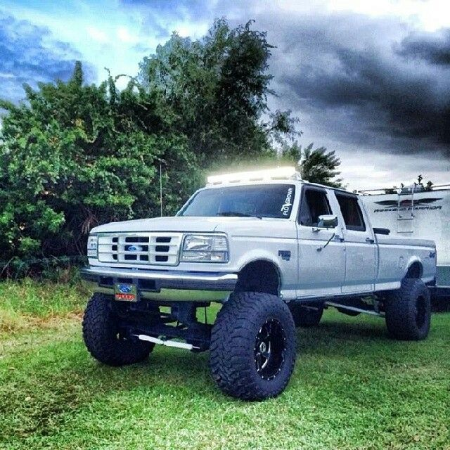 97 f350 crew cab lifted Cars Pinterest Bar, To be