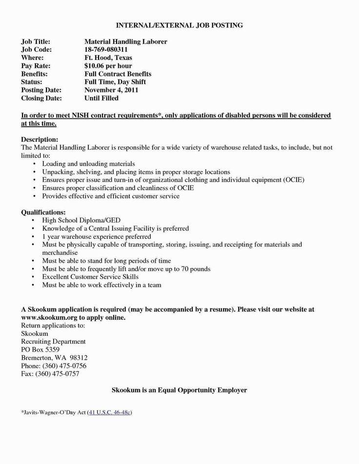 23 cover letter for internal position job posting