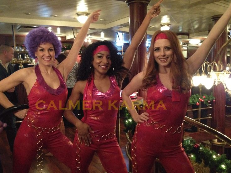 Choreographed disco dancers to hire for your Disco themed event.  Available to hire across the uk inc London, Brighton, Manchester, Birmingham and Cheshire Tel:  0203 602 9540 www.calmerkarma.co.uk