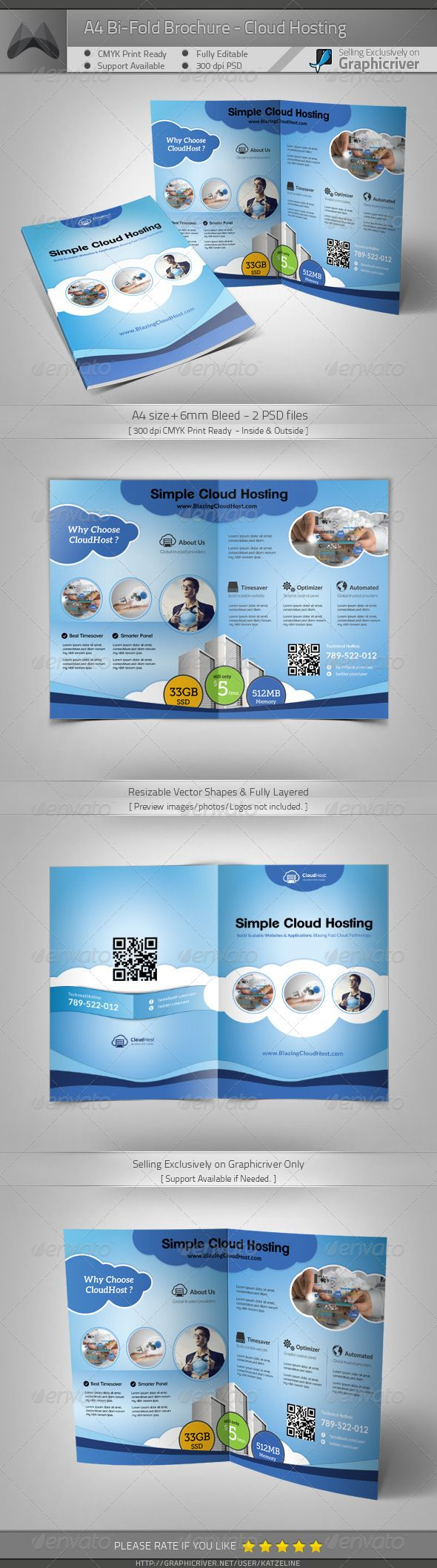 Best Simple Fresh Brochure Template Trifold  Bifold